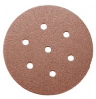 "150mm (6"") 7 hole  Aluminium oxide hook and loop back sanding discs. NEW! Price per 50 discs."